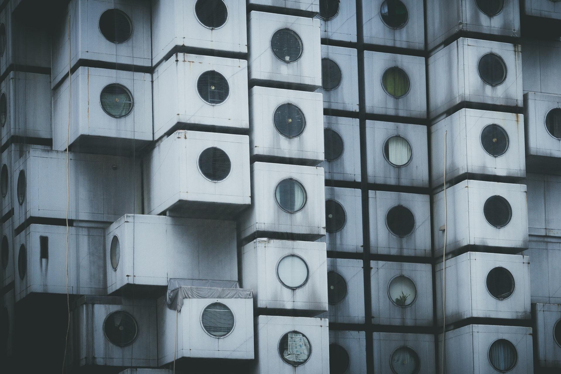 Image of capsule tower in Japan